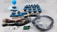 Arcade parts Bundles kit With 5 pins 8 way Joystick Chrome button 1 player PC PS3 USB Encoder Adapter To Build Up Arcade Machine
