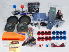 Arcade parts Bundles kit With 960 in 1 multi game Pandora Box 5 Long Joystick 12V LED illuminated button Jamma Harness Coin mech