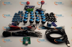 Arcade parts Bundles kit With Joystick,chrome Pushbutton,Microswitch,2 player USB to Jamma Build Up Arcade Machine By Yourself