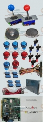 1 set Arcade parts Bundles With 60 in 1 PCB 16A Power Supply Joystick illuminated button Microswitch Speaker for Arcade Machine