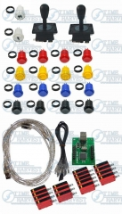 Free Shipping Arcade parts Bundles kit With American Joystick buttons 2 player USB Encoder board to Build Up Arcade Game Machine
