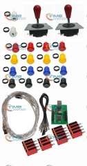 Rocker Bundles kit With Joystick,American button,microswitch,2Player USB board Arcade kit to Build Up Arcade Machine By Yourself