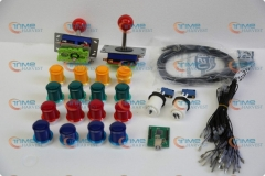 Arcade parts Bundles kit With Joystick,Pushbutton,Microswitch,2 player USB to Jamme board to Build Up Arcade Machine By Yourself