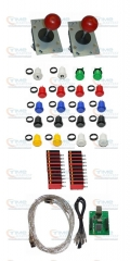 Arcade parts Bundles Kit with 2 player USB adapter Joystick American style button Microswitch 1P 2P buttons for arcade machine