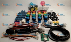 Arcade parts Bundles With Illuminated button LED bulbs Illuminated Joystick player buttons Microswitch USB adapter ground wires