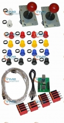 Arcade USB Joystick Kit With Zippyy Joystick American Buttons Microswitches 2P USB Board to Build Up Arcade Machine By Yourself