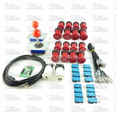 Arcade DIY Bundle Kits with 2 player USB Encoder Board adapter Push Buttons Arcade Joystick for MAME Control Panel Game Rocker