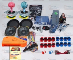 Arcade parts Bundles kit With 815 in 1 multi games Pandora Box 5 LED Joystick 12V LED illuminated button Jamma Harness Coin mech