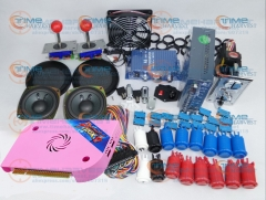 Arcade parts Bundles kit With 1300 in 1 Pandora Box 6 Joystick Microswitch American Style Button Build Up Arcade Cabinet Machine