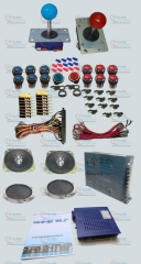 Arcade parts Bundles kit with Game elf 750 in 1 Joystick Microswitches Silver Plated Button To Build Up Arcade Cabinet Machine