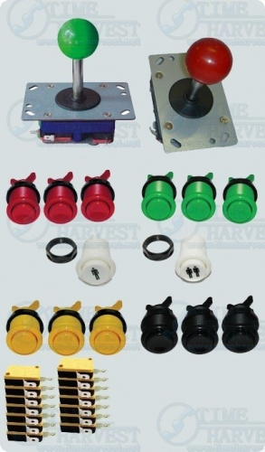 Sell 1 set kits joystick and buttons with microswitch/DIY Arcade parts Bundles for Arcade Game Machine/Coin operator cabinet