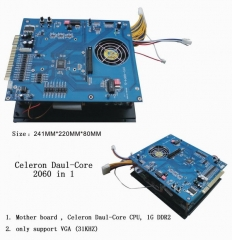 VGA Multi games 3016 in 1 game board New Mother board,Celeron Daul-Core CPU,1G DDR2, VGA high resolution for arcade game machine