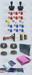 Arcade parts Bundles kit With 815 in 1 Pandora Box 4S american style Joystick american style buttons Microswitches Jamma Harness