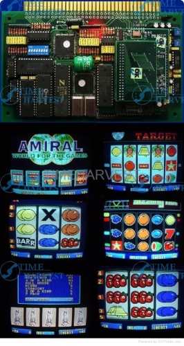 10pcs HOT SPOT AMIRAL casino game pcb with one screen for slot arcade game machine for coin operated game arcade cabinet machine