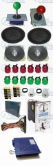 Arcade parts Bundle kits With 750 in 1 PCB Pushbutton Power supply Coin acceptor Joystick to Build Up Arcade Machine By Yourself