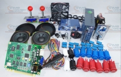 Arcade parts Bundles kit With Classics 60 in 1 PCB Joystick Microswitch Fan American Style Button Build Up Arcade Game Machine