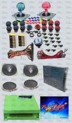 Arcade parts Bundles with New 815 in 1 Pandora Box 4S+ long shaft Joystick Chrome illuminated button Jamma Harness Power supply