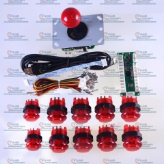 Arcade DIY Kits with Arcade USB Encoder Board 5V LED Lamp Buttons Arcade Joystick for MAME Handle Control Panel Game Rocker