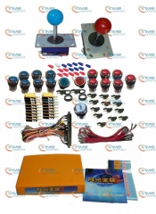 Arcade parts Bundles kit With 1300 in 1 mulit game board Long shaft Joystick Silver illuminated button Microswitch Jamma Harness