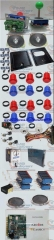 Arcade Parts Bundles Kit With 60 in 1 Board Power Supply Joystick Push button Microswitch Harness Glass Clips coin door camlock