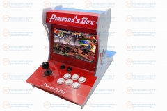 "Pandora box 6 Mini Bartop Arcade Maschine 2 Players 10"" LCD Table Top Video Game Machine with Original 1300 in 1 Multi Games Box"