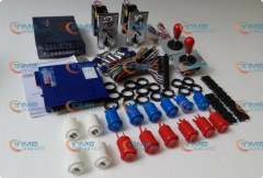 Arcade parts Bundles Kit with 750 in 1 game elf Oval balltop Joystick Acceptor Microswitches Buttons To Build Up Arcade Machine