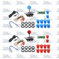 Arcade DIY Bundle Kits with USB Encoder Board support 5V LED Lamp Buttons Arcade Joystick for 2P MAME Control Panel Game Rocker