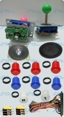 1set DIY Arcade parts Bundles With Joystick Push button Microswitch Harness Speaker Speaker Net To Build Up Arcade Machine