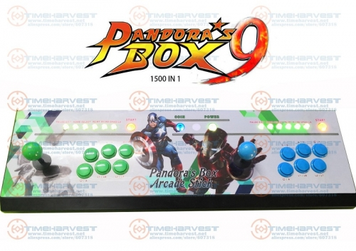 2 plysers Pandor box 9 arcade kit joysticks buttons console 1500 in 1 family TV game control with USB zero delay function