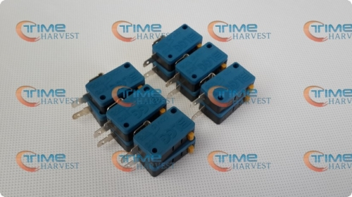 20 pcs Microswitch for Push Button/2 terminals blue micro switch for button/Arcade Game Machine Parts/cabinet accessories