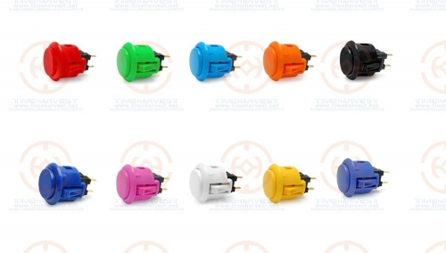 20 pcs original ( OBSF-24 ) Sanwa Push Button Pushbutton for Coin Operated Arcade Game Machine game cabinet parts accessories