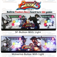 New Arrival Pandora Box 5 All-metal Box 2 players Arcade Fighting Game Joystick with 4 cores CPU 960 in 1 games 8 ways joysticks
