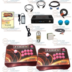 Arcade Controller Set with 960 in 1 Games Pandora Box 5 Wireless 2 Players Arcade Fighting Stick for XBOX360 PS3 PC Game Console