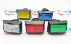 18pcs illuminated Rectangular Bevel edge Push Buttons with microswitches/push button/game accessories/Arcade Game Cabinet parts