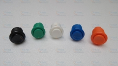 10 pcs New model American style push button 28mm concave nylon buttons (Plug in) built-in microswitch for Arcade Game Machine