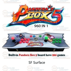 New Arrival Pandora Box 5 Box 2 player Family TV Fighting Game Joystick with 4 cores CPU 960 in 1 games 8 ways Joysticks Buttons