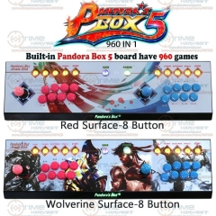 Pandora box 5 Zero delay 960 in 1 game console 8 buttons Version PC PS3 TV arcade joystick USB controller with LED Menu Button
