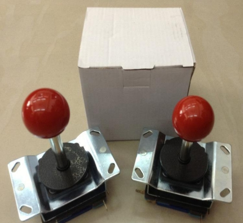 Free shipping 2pcs Joystick Long shaft 8 way joystick with Microswitch game cabinet parts for coin operated arcade game machine
