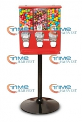 High Quality Coin Operated Slot Machine for Toy Vending Cabinet/triple Capsule Vending Machine/Bulk Vendor/Penny-in-the-slot