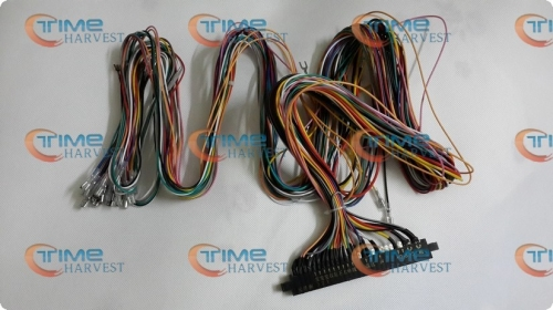 Free shipping Jamma Harness with 5, 6 action button wires 28pin wiring with 5,6 buttons wires parts for arcade game machine