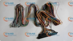 4 pcs Jamma Harness with 5, 6 action button wires 28 pin JAMMA wiring with 5,6 buttons wires for arcade game machine accessories