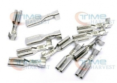 100 pcs 2.8mm Spade Quick Connector AWG .110 Silver Terminal Crimp Female Terminal for Chain cable Wires Arcade Jamma Harness