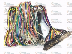 4 pcs Jamma Harness with full welding wires 28 pin JAMMA wiring with -5V & full connection wires Arcade game machine accessories