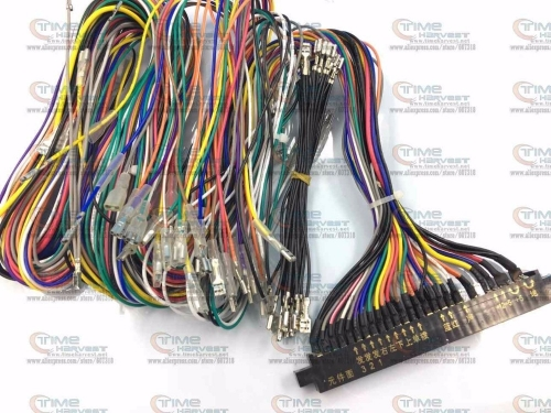 Freed shipping Jamma Harness with -5V & full welding wires Standard JAMMA wiring with full connection wires Arcade game machine