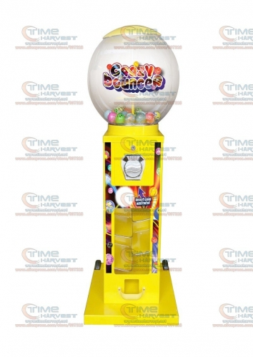 High Quality Coin operated Slot Machine for Candy Vendor Big Capsule Upright Vending Machine Bulk penny-in-the-slot Coin Vendor