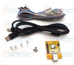 New 1 player USB Encoder to Arcade Joystick & button USB controller for PC / P 3 MAME Multicade Keyboard Encoder with Wires