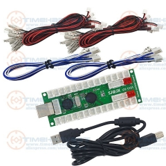 New 2 player USB Encoder to Arcade jamma adapter with wires harness USB to Jamma control chip board for Rocker Arcade cabinet