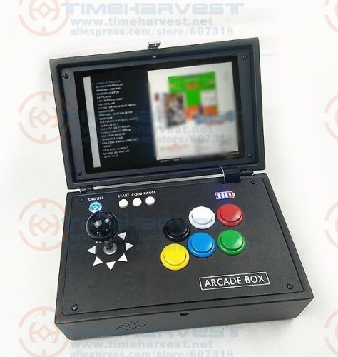 Raspberry Pi 3B+ 10 Inch LCD Video Game Console Includes 14K Games Installed Recalbox Mini Arcade Machine Portable Game Joystick