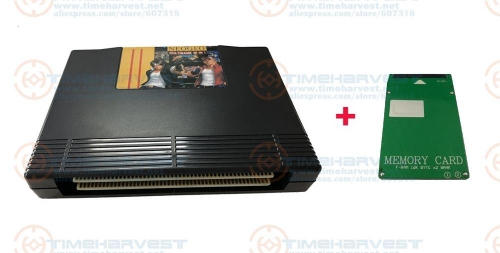 NEW ARRIVAL 161 in 1 NEO GEO AES multi game Cartridge pcb Game box Cassette with Memory card 32KB for NEO GEO AES Console device
