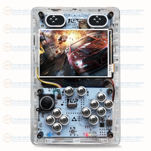 Pocket mini arcade game 3.5 inch HD IPS LCD Raspberry Pi 3 + 64G card Recalbox system Portable Mini Pocket Arcade Game Gameboy